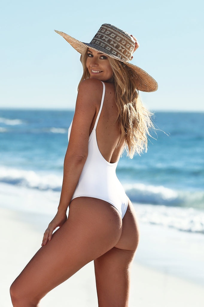 white eco one piece back min