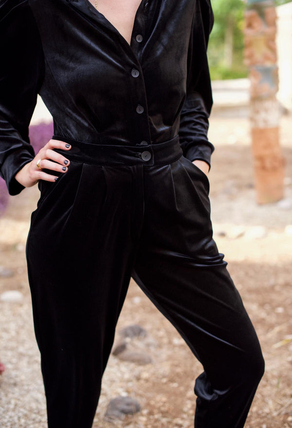 BARRE PANTS – Black Velvet