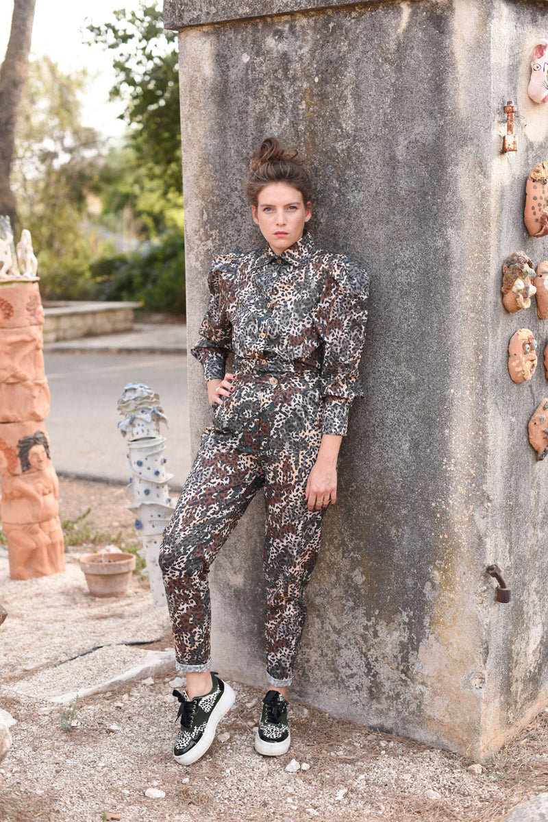 THE LEOPARD MYELIN BLOUSE