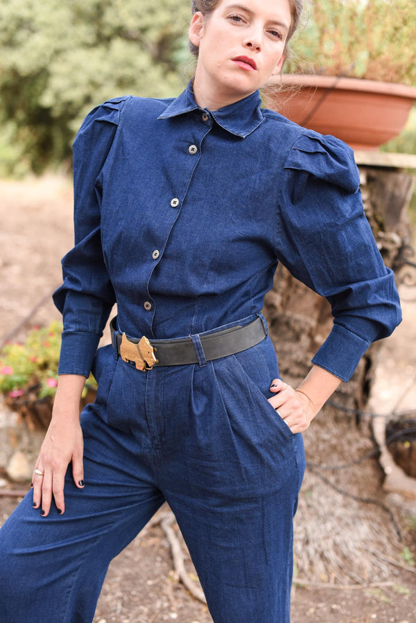 MYELIN BLOUSE - Denim