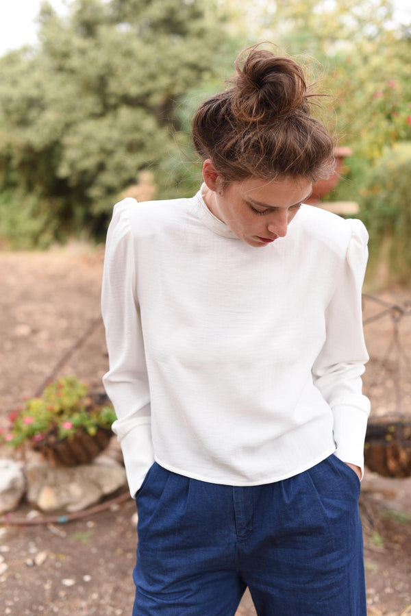 PUFFY IVIG SHIRT - White