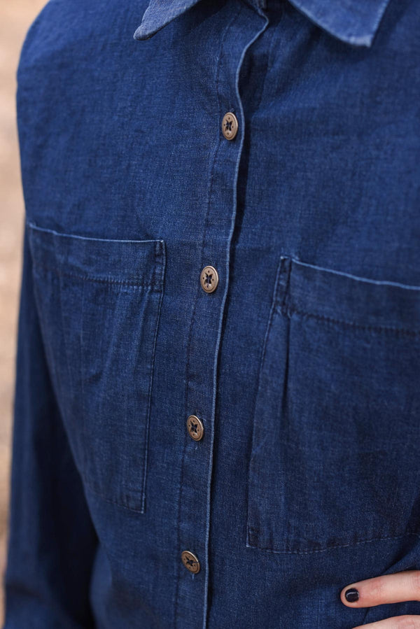 OVERSIZED MYELIN SHIRT - Denim