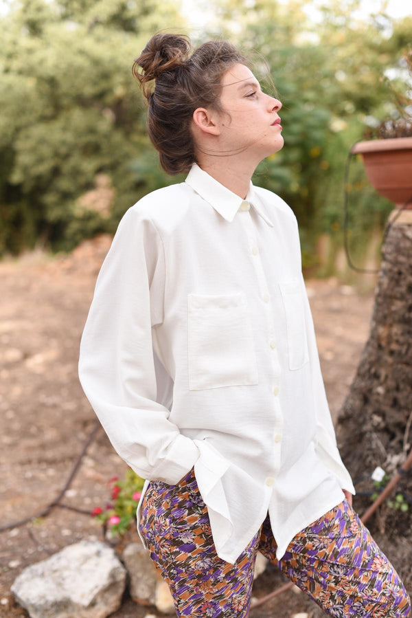 OVERSIZED MYELIN SHIRT - White