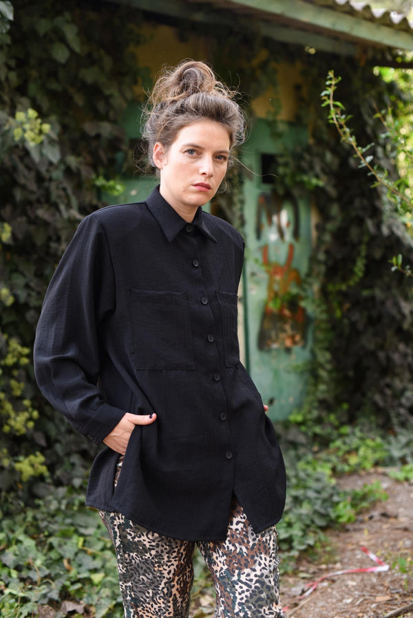 OVERSIZED MYELIN SHIRT - Black