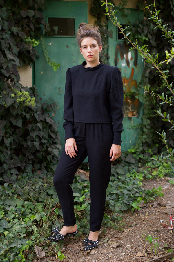BLACK BARRE PANTS