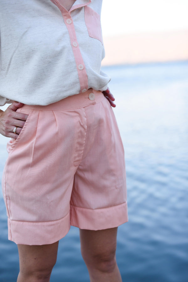 BERMUDA BARRE PANTS –Crazy Salmon