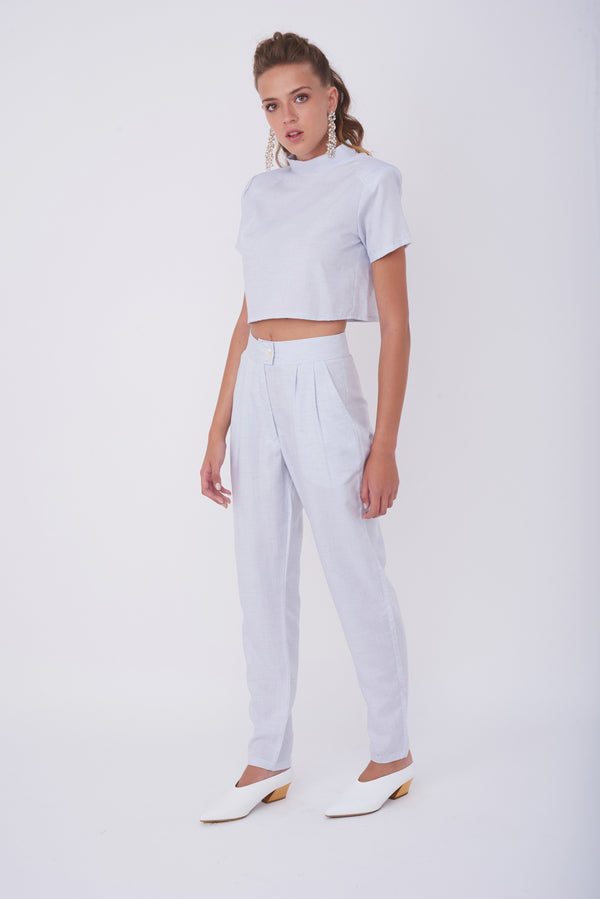 IVIG CROP TOP – Powder Blue