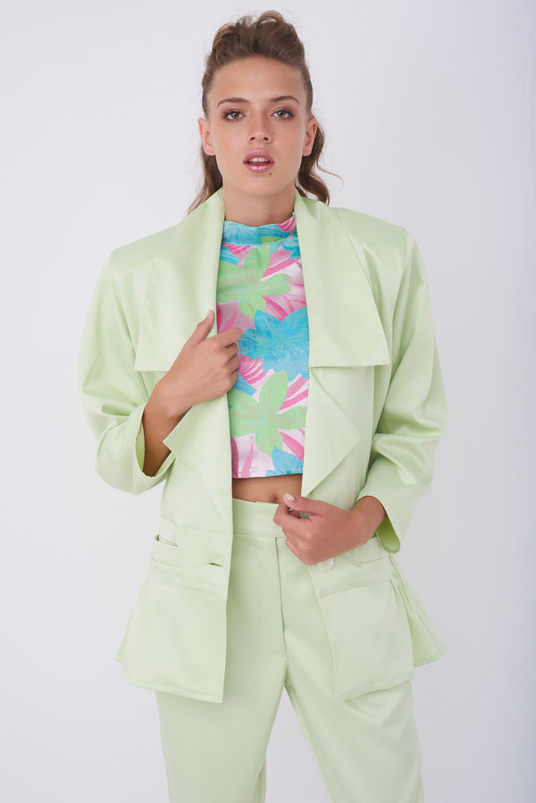 LOUISE JACKET – Shiny Pistachio