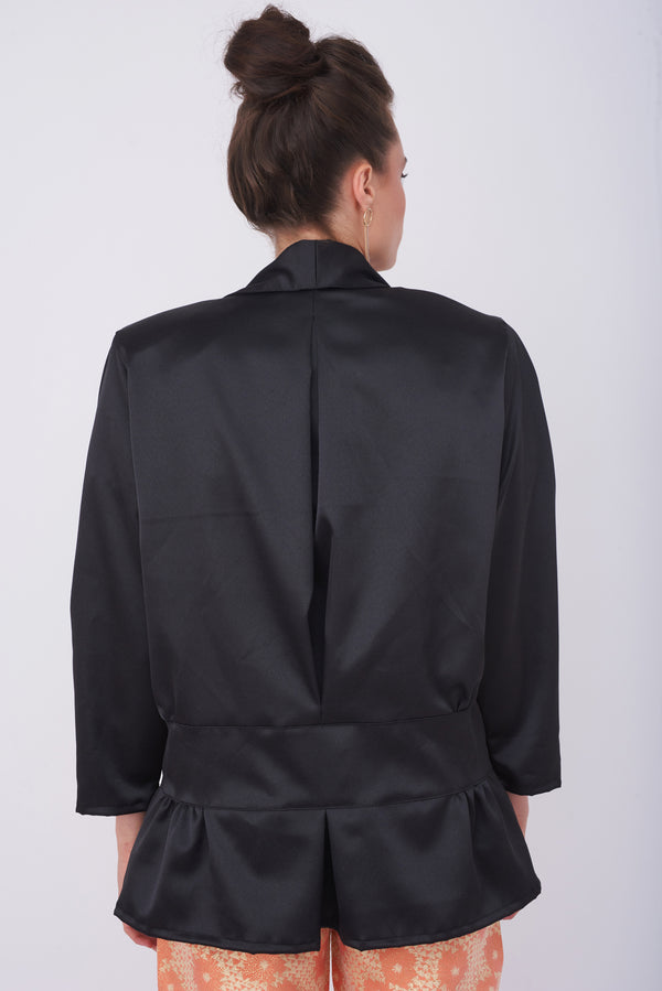 LOUISE JACKET – Shiny Black