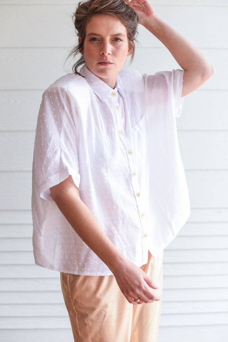 FESTIVE WHITE OVERSHIRT MYELIN
