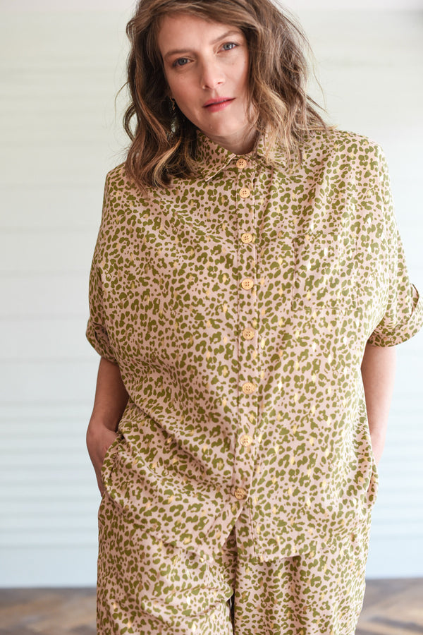 GOLDEN LEOPARD OVERSHIRT MYELIN