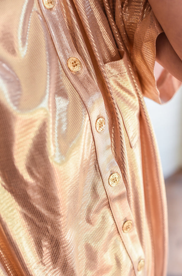ROSE GOLD GLITTER OVERSHIRT MYELIN