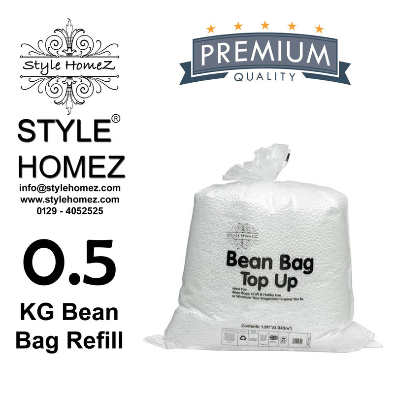 Style Homez Half kg Premium Bean Bag Refill for Bean Bags