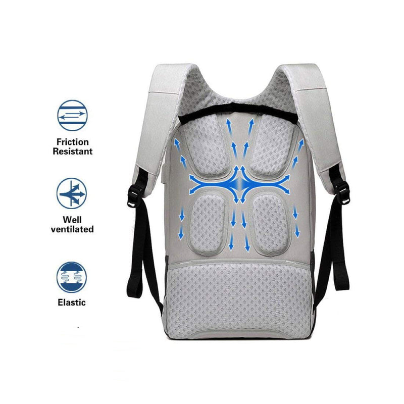 "Style Homez Stanley Nylon Laptop Backpack for 15.6"" Laptop, Spacious Bag, USB Charging Support, 16 Litre Slate Grey"