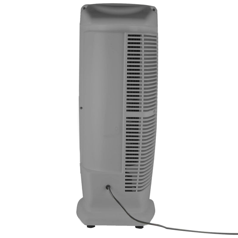 AIRTOP  Tower Fan with 25 Feet Air Delivery High Speed Swing & Anti Rust Body Grey White Color