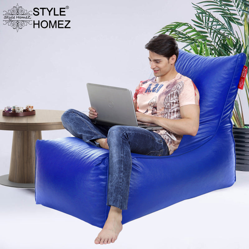 Style Homez Alexa Luxury Lounge XXXL Bean Bag Royal Blue Color Filled with Beans
