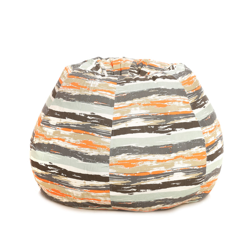 Style Homez Classic Cotton Canvas Stripes Printed Bean Bag XXL Size With Fillers
