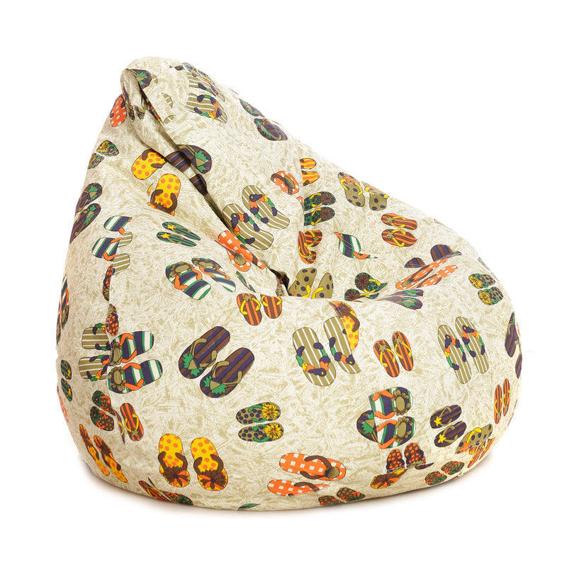 Style Homez Classic Cotton Canvas Abstract Printed Bean Bag XXL Size With Fillersr