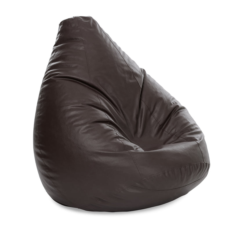 Style Homez Premium Leatherette Classic Jumbo Bean Bag Jumbo Size SAC Chocolate Brown Color Cover Only