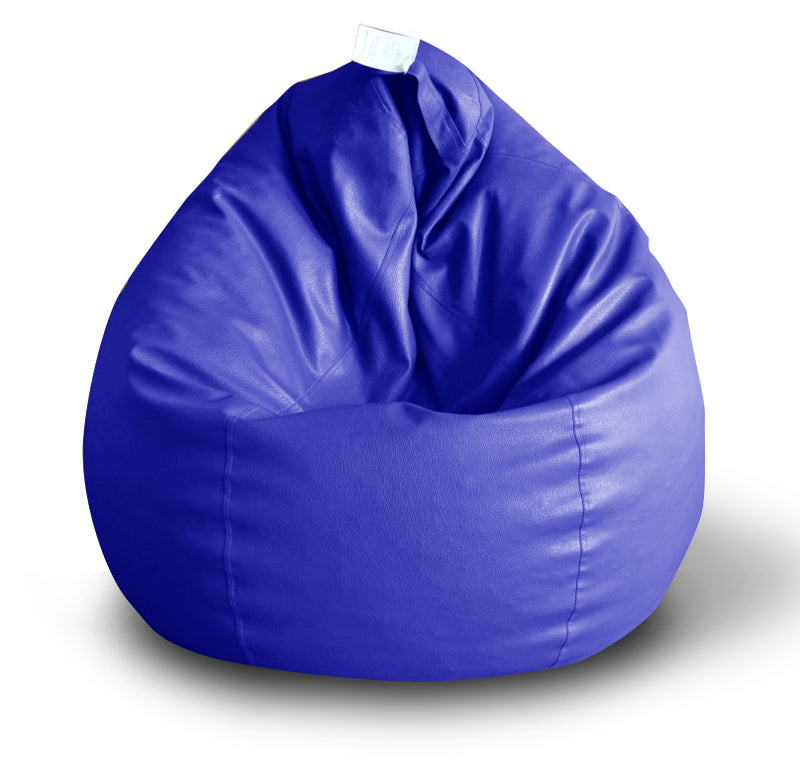 Style Homez Premium Leatherette Classic Bean Bag XXL Size Royal Blue Color Cover Only