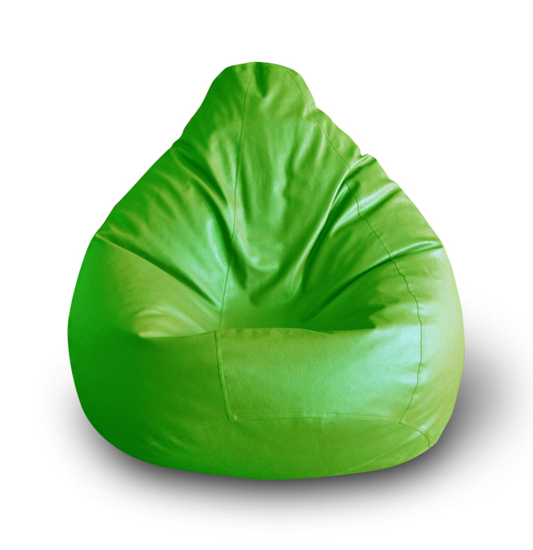 Style Homez Premium Leatherette Classic Bean Bag XXL Size Green Color Cover Only