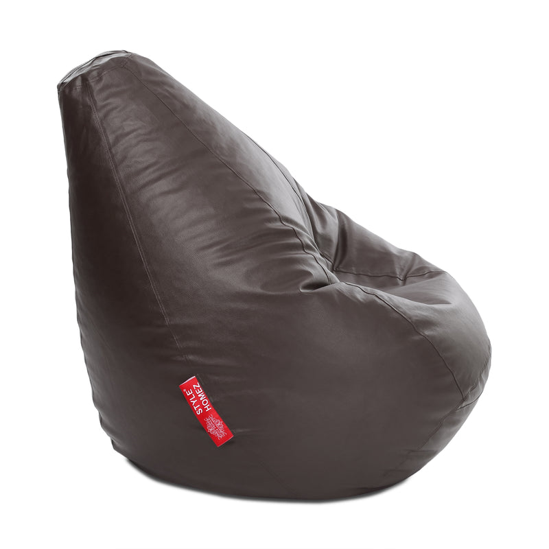 Style Homez Premium Leatherette Classic Bean Bag XXXL Size Chocolate Brown Color Cover Only