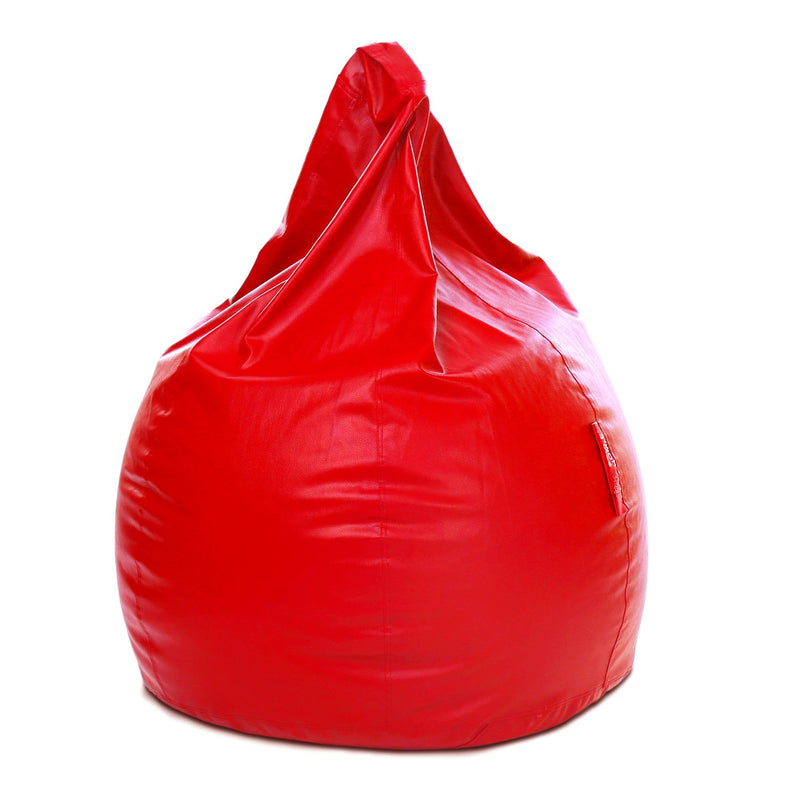 Style Homez Premium Leatherette Classic Bean Bag XXXL Size Red Color Cover Only