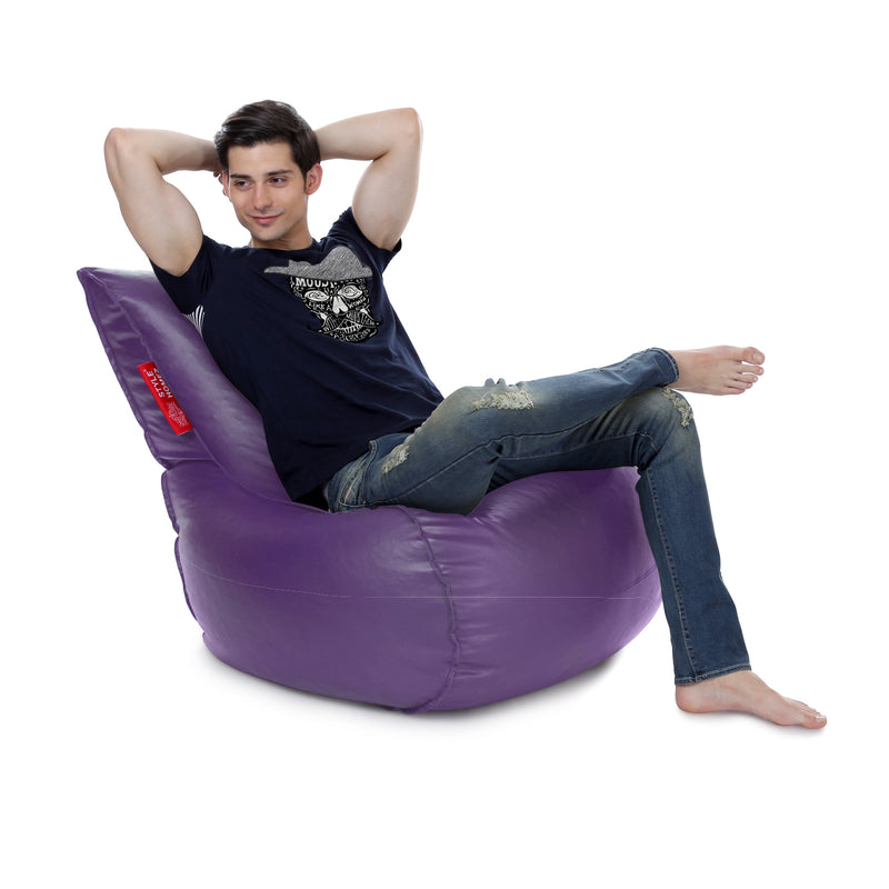 Style Homez Mambo XL Bean Bag Purple Color Filled with Beans