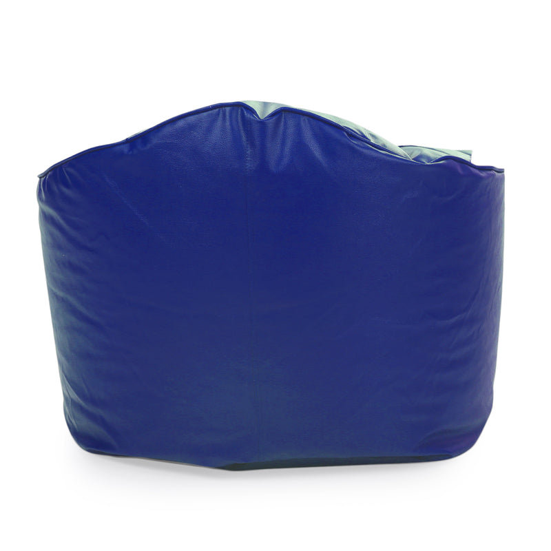 Style Homez Premium Leatherette Mooda Rocker Lounger Bean Bag XXL Size Royal Blue Color Filled With Beans
