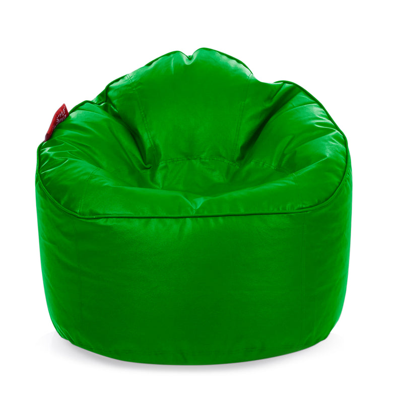 Style Homez Premium Leatherette Mooda Rocker Lounger Bean Bag XXL Size Green Color Filled With Beans