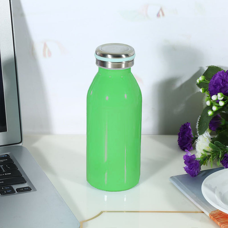 Style Homez NiNO, Stainless Steel Vacuum Insulated Mini Thermosteel Milk Bottle for Kids, Forest Green Color 350 ml(Hot and Cold 12 Hours)