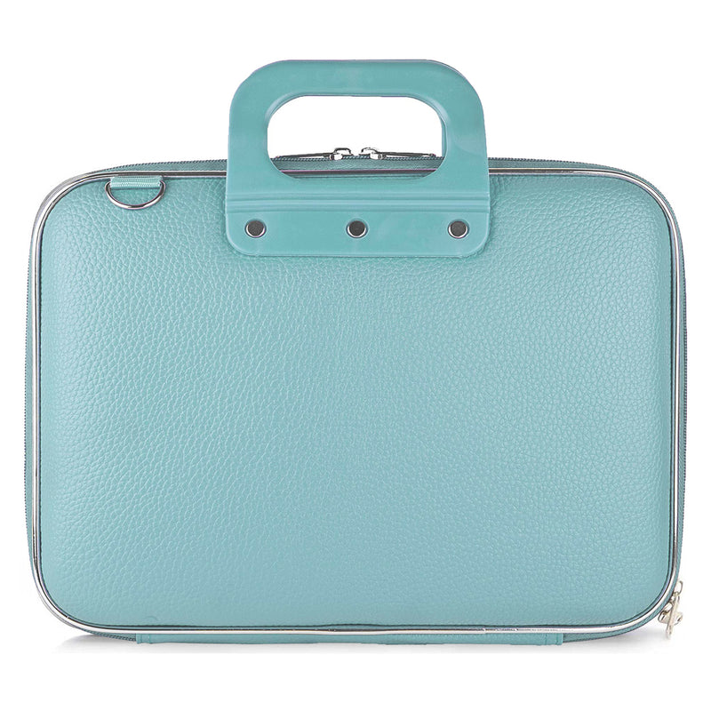 "Style Homez Stylish Unisex Hard Shell Briefcase Celeste Teal Laptop Bag with Strap for 14"" Laptop"
