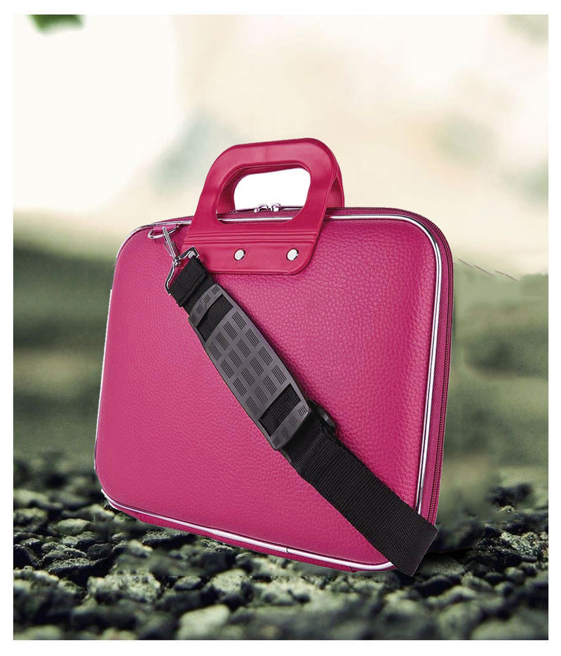 "Style Homez Stylish Unisex Hard Shell Briefcase Pink Laptop Bag with Strap for 15.6"" Laptop"