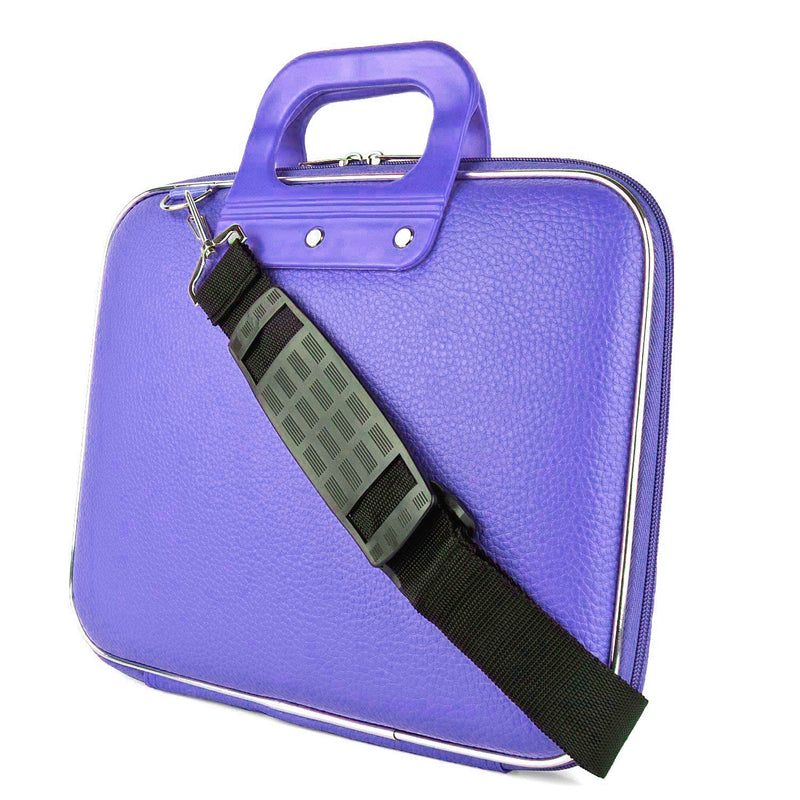 "Style Homez Stylish Unisex Hard Shell Briefcase Purple Laptop Bag with Strap for 15.6"" Laptop"