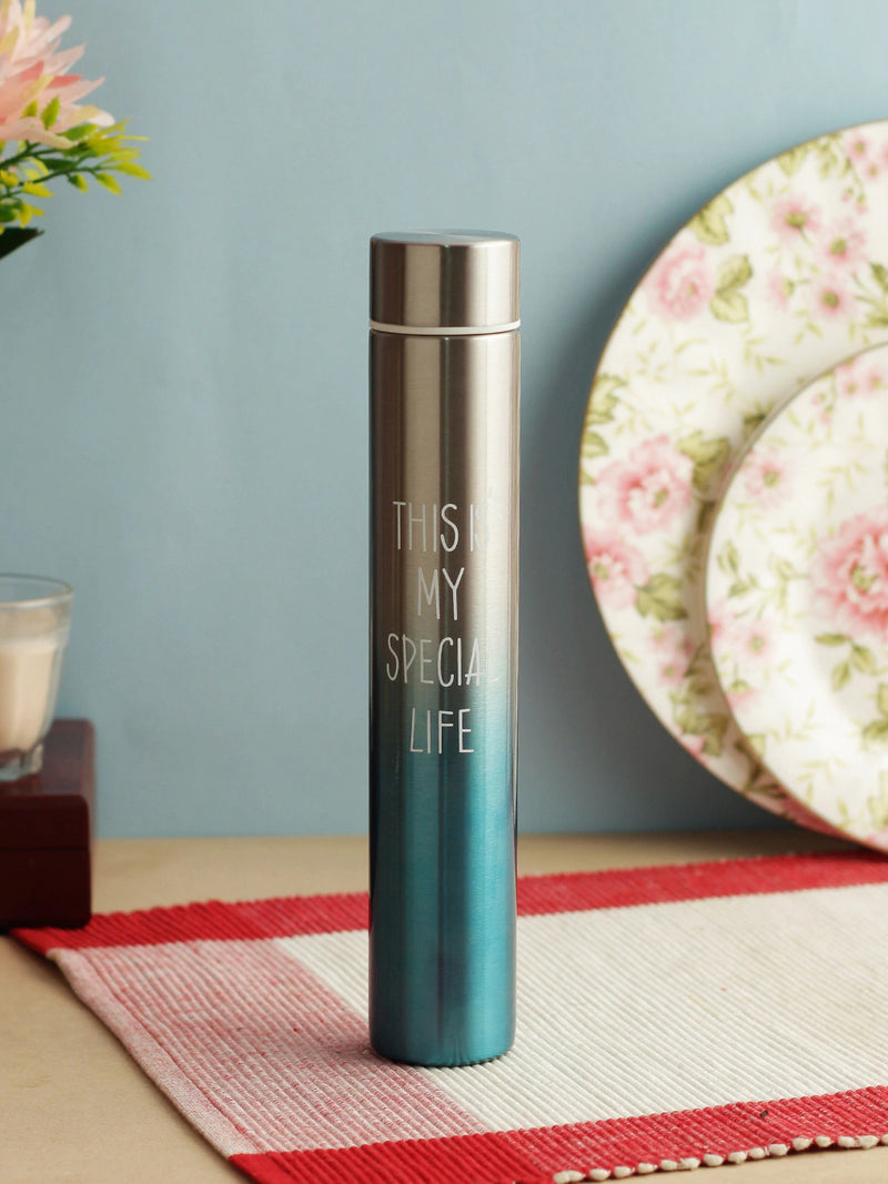 Style Homez FLACO, The Skinny Mini Vacuum Insulated Thermosteel Bottle for Women, Stainless Steel BPA Free, Blue Color 260 ml