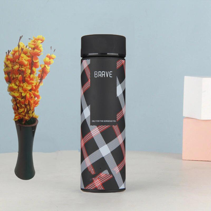 Style Homez Double Wall Vacuum Insulated Stainless Steel Flask BPA Free Thermos Travel Water Bottle Sipper 480 ml - Hot and Cold 12 Hours Black Color (BRAVE)
