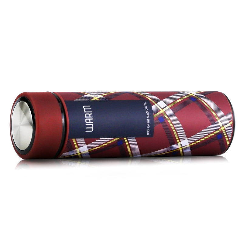 Style Homez Double Wall Vacuum Insulated Stainless Steel Flask BPA Free Thermos Travel Water Bottle Sipper 480 ml - Hot and Cold 12 Hours Brick Red Color (WARM)