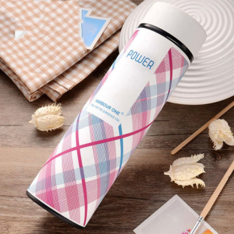 Style Homez Double Wall Vacuum Insulated Stainless Steel Flask BPA Free Thermos Travel Water Bottle Sipper 480 ml - Hot and Cold 12 Hours White Color (POWER)