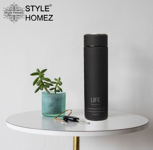 Style-Homez-Double-Wall-Vacuum-Insulated-Stainless-Steel-LIFE-Flask-BPA-Free-Thermos-Travel-Water-Bottle-Sipper-480-ml-Hot-and-Cold-12-Hours-Black-Color-Set-of-2