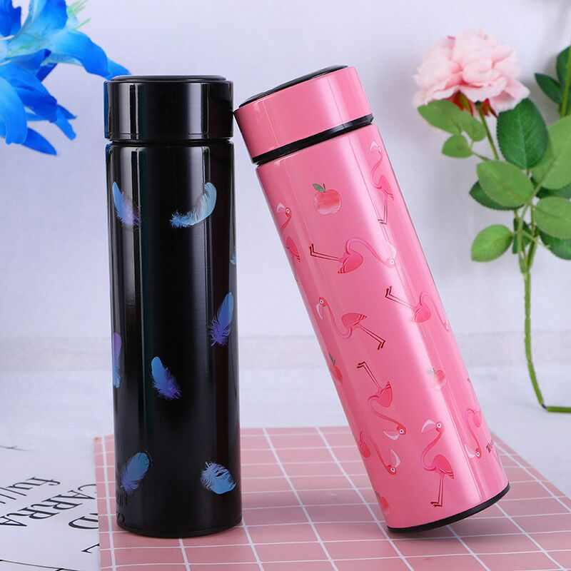 Style Homez WONDER Double Wall Vacuum Insulated Stainless Steel Flask BPA Free Thermos Travel Water Bottle Sipper 480 ml - Hot and Cold 12 Hours Black Color