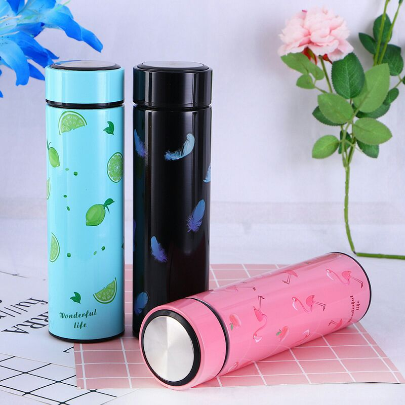 Style Homez WONDER Double Wall Vacuum Insulated Stainless Steel Flask BPA Free Thermos Travel Water Bottle Sipper 480 ml - Hot and Cold 12 Hours SKY Blue Color