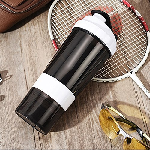 Style Homez SPIDER Gym Sipper Protein Shaker Water Bottle BPA Free Black White Color 500 ml