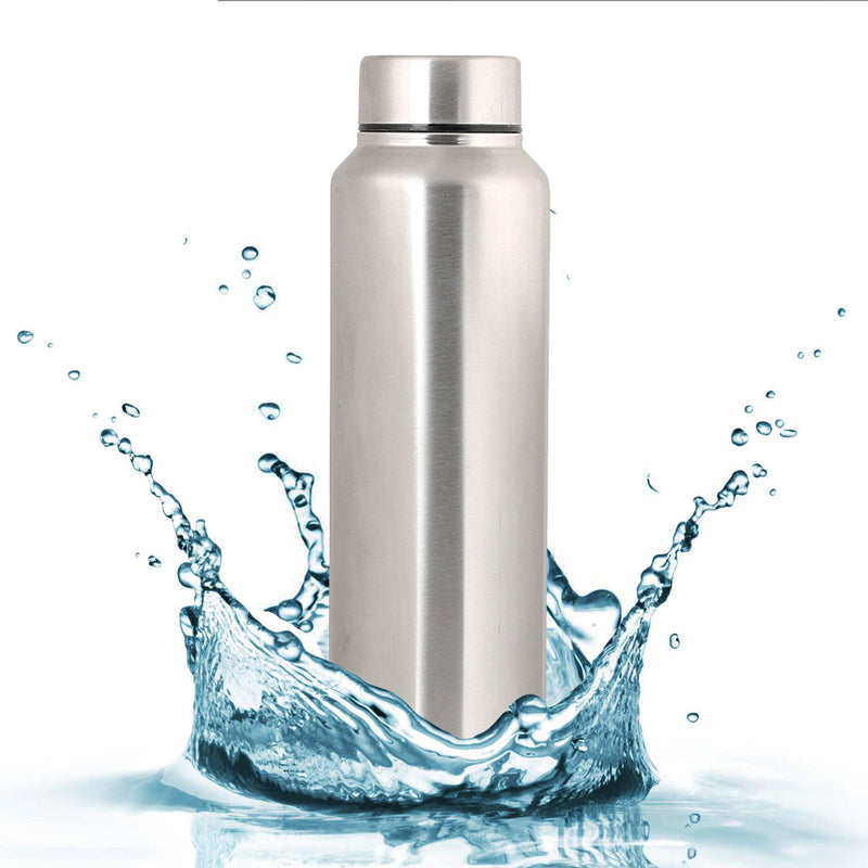 Style Homez Stainless Steel Water Bottle, Fridge Sipper BPA Free Food Grade Quality Silver Color 1000 ml