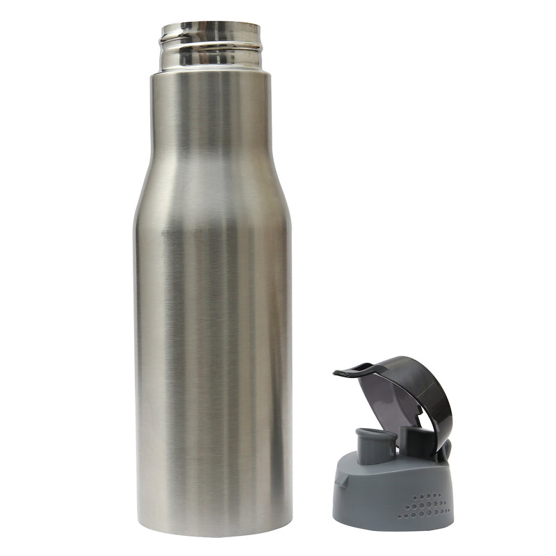Style Homez Stainless Steel Water Bottle, Gym Sipper BPA Free Food Grade Quality Silver Color 750 ml