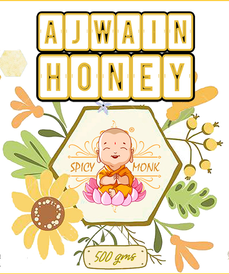 Spicy Monk 100% Pure & Natural Ajwain Honey 500 gm