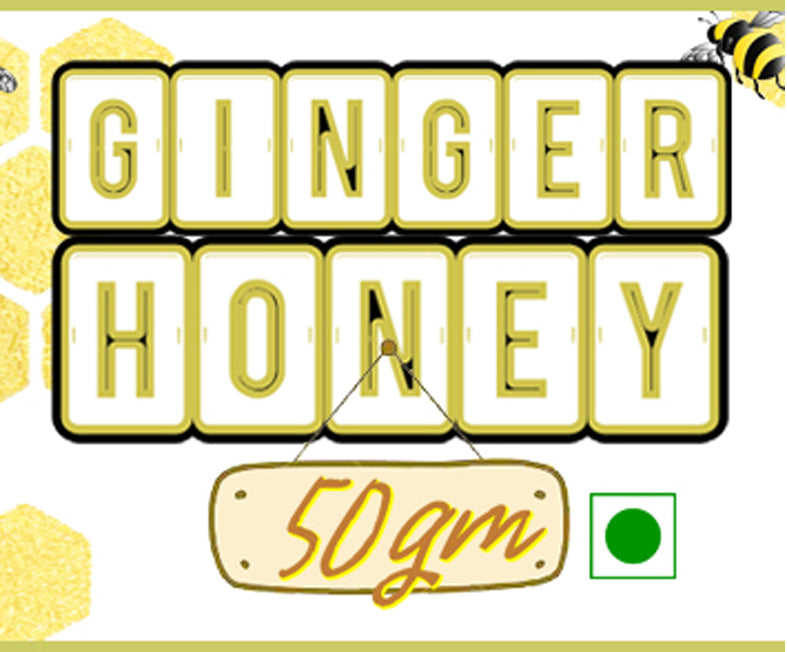 Spicy Monk 100% Pure & Natural Ginger Honey 50 gm