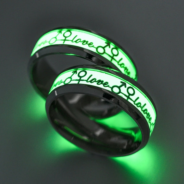 Couples Luminous Love Ring