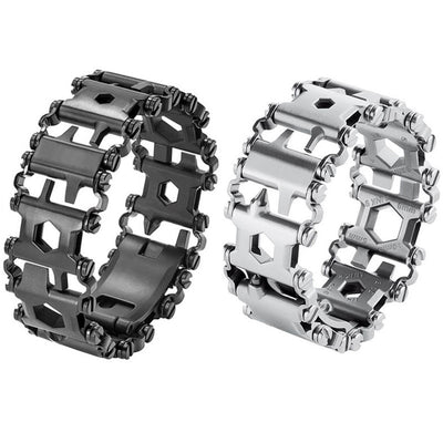 29-In-1 Multi-Tool Wearable Stainless Steel Bracelet
