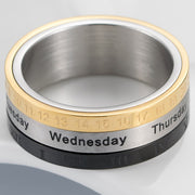Rotable Calendar Time Ring
