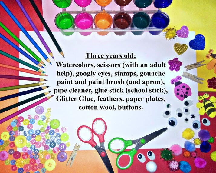 Creative materials for three years old